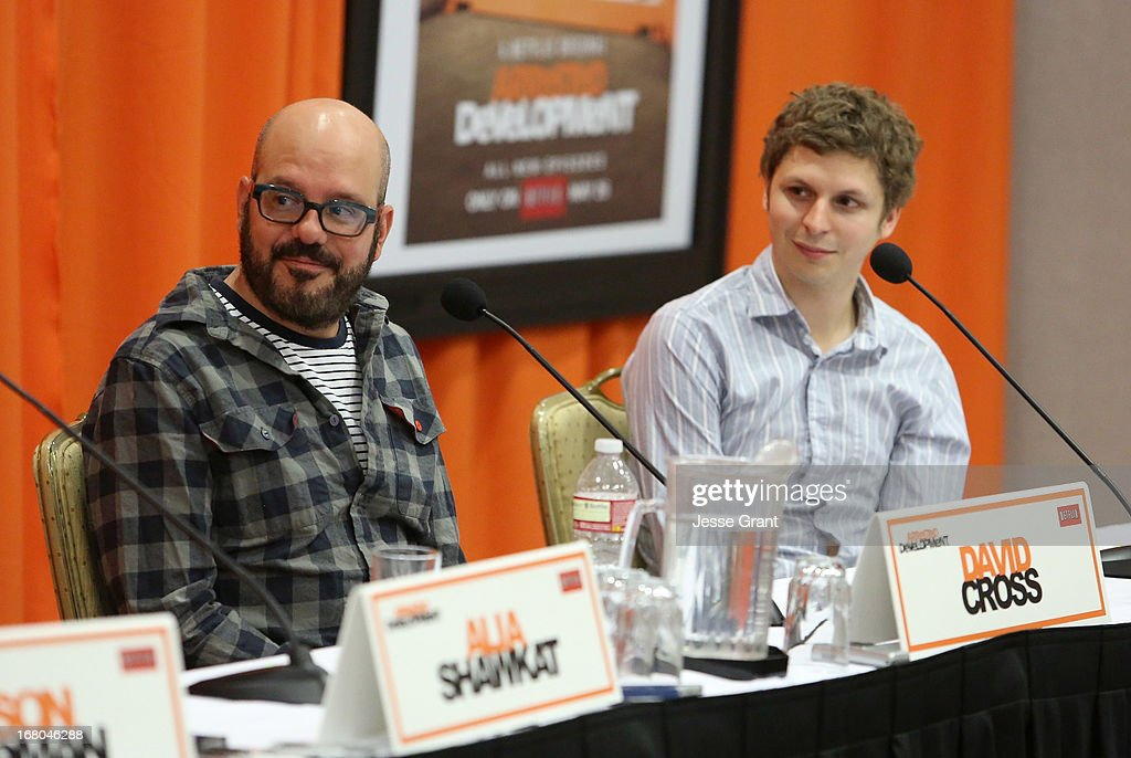 Actors David Cross and Michael Cera attend The Netflix Original Series 'Arrested Development' Press Conference at Sheraton Universal on May 4, 2013 in Universal City, California.