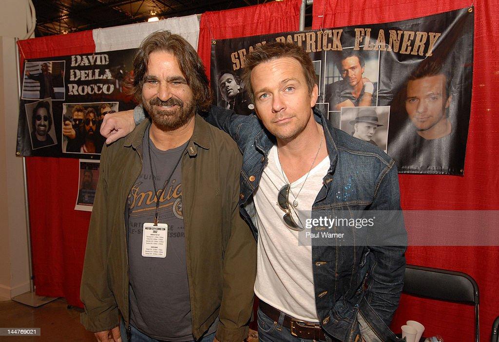 Actors David Della Rocco (L) and Sean Patrick Flanery attend day 1 of Motor City Comic Con 2012 at the Suburban Collection Showplace on May 18, 2012 in Novi, Michigan.