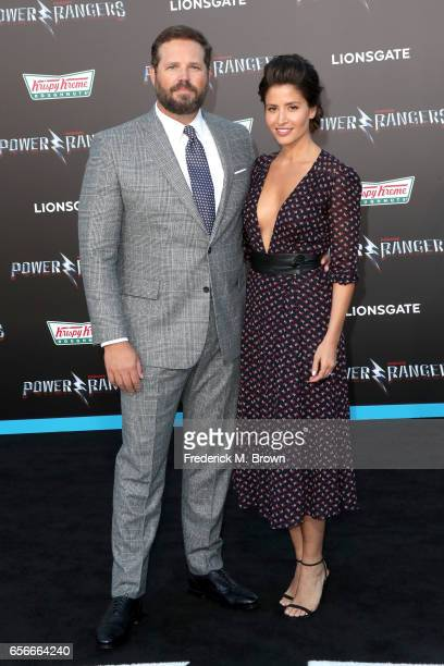 Actors David Denman and Mercedes Masohn at the premiere of Lionsgate's 'Power Rangers' on March 22 2017 in Westwood California