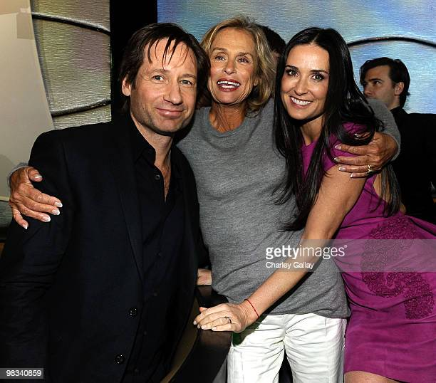 Actors David Duchovny Lauren Hutton and Demi Mooreattend the afterparty following the premiere of Roadside Attractions Echo Lake Entertainment's 'The...