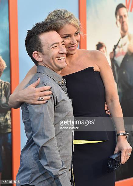 Actors David Faustino and Christina Applegate attend the premiere of Warner Bros Pictures 'Vacation' at Regency Village Theatre on July 27 2015 in...