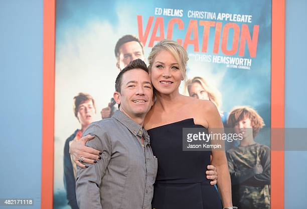 Actors David Faustino and Christina Applegate attend the premiere of 'Vacation' at Regency Village Theatre on July 27 2015 in Westwood California