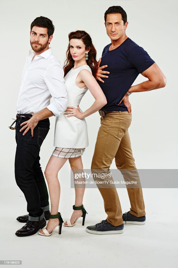 Actors <a gi-track='captionPersonalityLinkClicked' href=/galleries/search?phrase=David+Giuntoli&family=editorial&specificpeople=8011911 ng-click='$event.stopPropagation()'>David Giuntoli</a>, <a gi-track='captionPersonalityLinkClicked' href=/galleries/search?phrase=Bitsie+Tulloch&family=editorial&specificpeople=4616199 ng-click='$event.stopPropagation()'>Bitsie Tulloch</a> and Sasha Roiz are photographed for TV Guide Magazine on July 20, 2013 on the TV Guide Magazine Yacht in San Diego, California. PUBLISHED IMAGE.