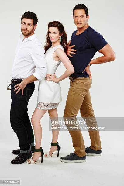 Actors David Giuntoli Bitsie Tulloch and Sasha Roiz are photographed for TV Guide Magazine on July 20 2013 on the TV Guide Magazine Yacht in San...