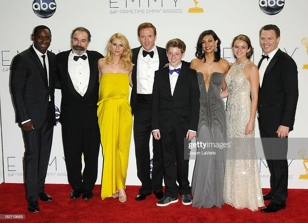 Actors David Harewood Mandy Patinkin Claire Danes Damian Lewis Jackson Pace Morena Baccarin Morgan Saylor and Diego Klattenhoff winners Outstanding...
