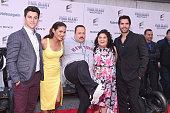 Actors David Henrie Daniella Alonso Kevin James Raini Rodriguez and Eduardo Verastegui attend 'Paul Blart Mall Cop 2' New York Premiere at AMC Loews...