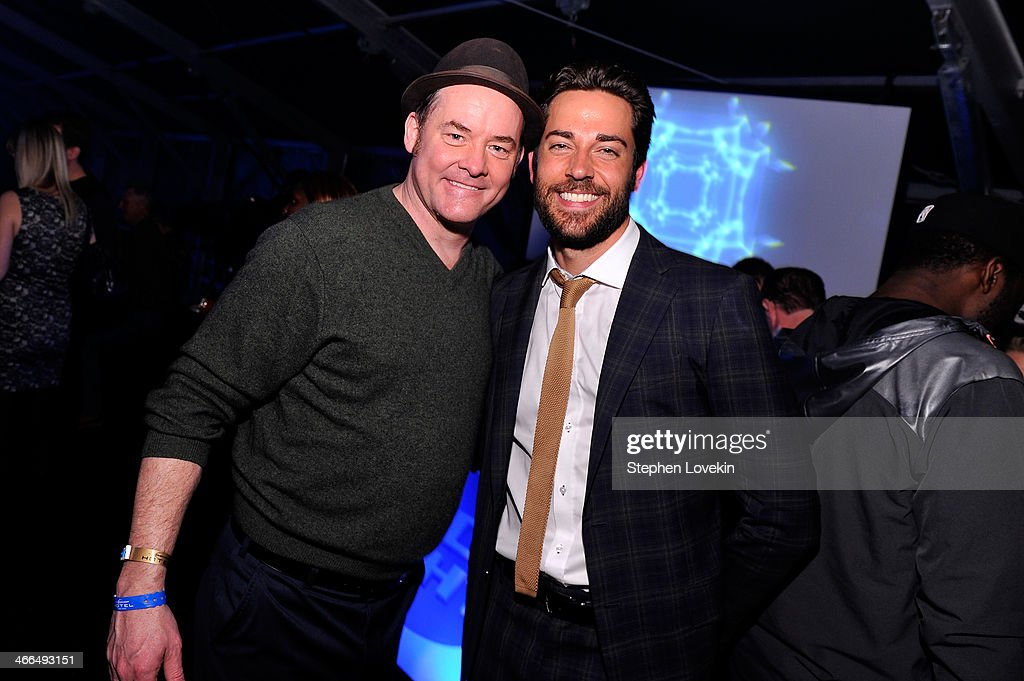 Actors <a gi-track='captionPersonalityLinkClicked' href=/galleries/search?phrase=David+Koechner&family=editorial&specificpeople=804105 ng-click='$event.stopPropagation()'>David Koechner</a> (L) Zac Levi attend the Bud Light Hotel on February 1, 2014 in New York City.