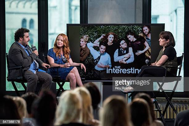 Actors David Krumholtz and Lauren Ambrose discuss 'The InterestingsÓ during AOL Build at AOL HQ on July 14 2016 in New York City