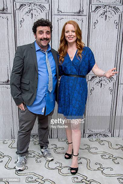 Actors David Krumholtz and Lauren Ambrose discuss 'The Interestings' during AOL Build at AOL HQ on July 14 2016 in New York City