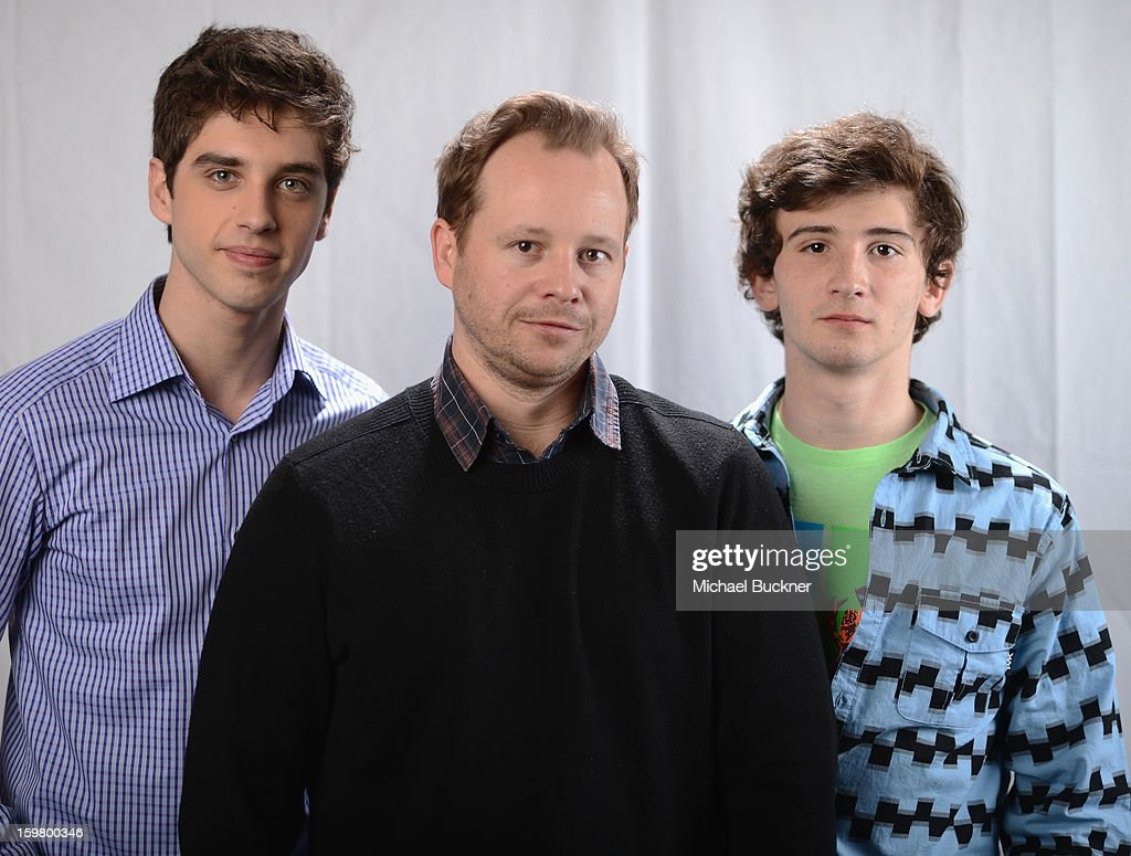 Actors David Lambert, Joshua Harto and Alex Shaffer pose for a portrait at the photo booth for MSN Wonderwall at ChefDance on January 20, 2013 in Park City, Utah.