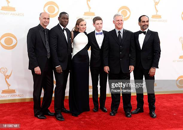 Actors David Marciano David Harewood Morgan Saylor Jackson Pace Jamey Sheridan and Navid Negahban arrive at the 65th Annual Primetime Emmy Awards...