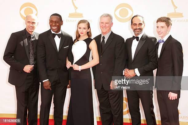 Actors David Marciano David Harewood Morgan Saylor Jamey Sheridan Navid Negahban and Jackson Pace arrive at the 65th Annual Primetime Emmy Awards...