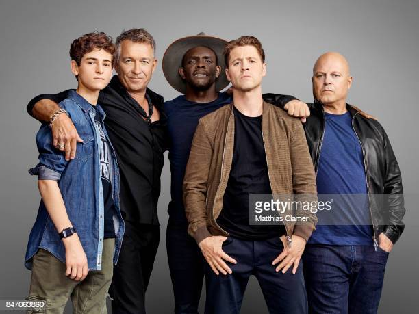 Actors David Mazouz Sean Pertwee Camren Bicondova Chris Chalk Benjamin McKenzie and Michael Chiklis from 'Gotham' are photographed for Entertainment...