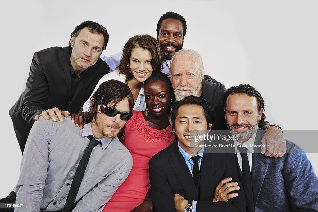 Cast of The Walking Dead, TV Guide Magazine, Comic Con 2013