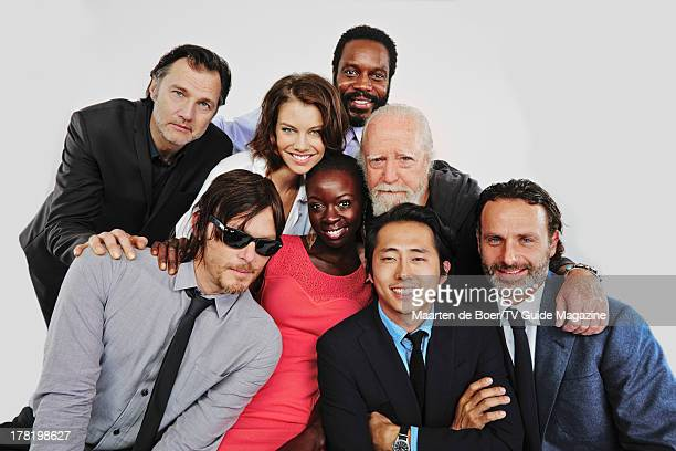 Actors David Morrissey Norman Reedus Lauren Cohan Danai Gurira Chad Coleman Scott Wilson Steven Yeun and Andrew Lincoln are photographed for TV Guide...