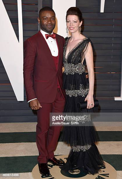 Actors David Oyelowo and Jessica Oyelowo arrive at the 2015 Vanity Fair Oscar Party Hosted By Graydon Carter at Wallis Annenberg Center for the...
