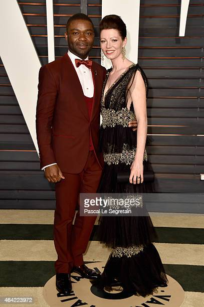 Actors David Oyelowo and Jessica Oyelowo attend the 2015 Vanity Fair Oscar Party hosted by Graydon Carter at Wallis Annenberg Center for the...