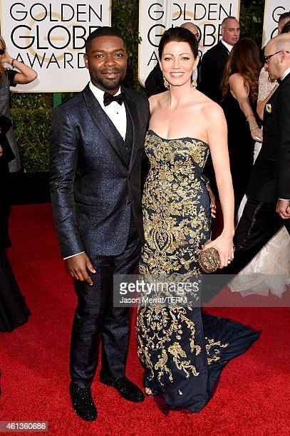 Actors David Oyelowo and Jessica Oyelowo attend the 72nd Annual Golden Globe Awards at The Beverly Hilton Hotel on January 11 2015 in Beverly Hills...
