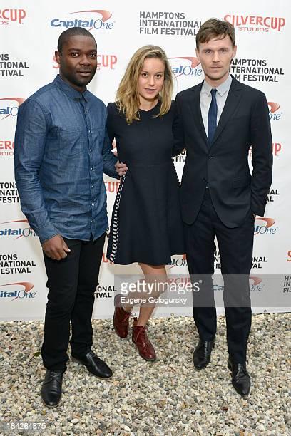 Actors David Oyelowo Brie Larson and Scott Haze attend the 21st Annual Hamptons International Film Festival on October 12 2013 in East Hampton New...