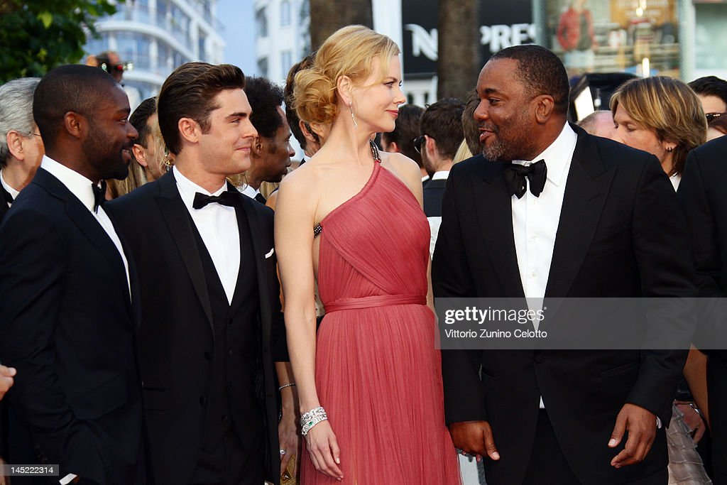 Actors <a gi-track='captionPersonalityLinkClicked' href=/galleries/search?phrase=David+Oyelowo&family=editorial&specificpeople=633075 ng-click='$event.stopPropagation()'>David Oyelowo</a>, <a gi-track='captionPersonalityLinkClicked' href=/galleries/search?phrase=Zac+Efron&family=editorial&specificpeople=533070 ng-click='$event.stopPropagation()'>Zac Efron</a>, <a gi-track='captionPersonalityLinkClicked' href=/galleries/search?phrase=Nicole+Kidman&family=editorial&specificpeople=156404 ng-click='$event.stopPropagation()'>Nicole Kidman</a> and director <a gi-track='captionPersonalityLinkClicked' href=/galleries/search?phrase=Lee+Daniels&family=editorial&specificpeople=209078 ng-click='$event.stopPropagation()'>Lee Daniels</a> attend the 'The Paperboy' premiere during the 65th Annual Cannes Film Festival at Palais des Festivals on May 24, 2012 in Cannes, France.