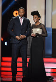 Actors David Ramsay and Teyonah Parris onstage during the 47th NAACP Image Awards presented by TV One at Pasadena Civic Auditorium on February 5 2016...