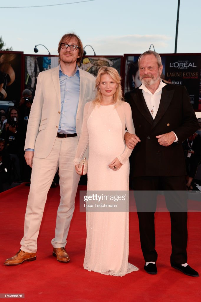 Actors David Thewlis and Melanie Thierry and director Terry Gilliam attend the 'The Zero Theorem' Premiere during the 70th Venice International Film...