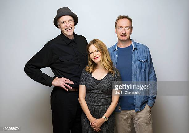 Actors David Thewlis Jennifer Jason Leigh and Tom Noonan of 'Anomalisa' are photographed for Los Angeles Times on September 25 2015 in Toronto...