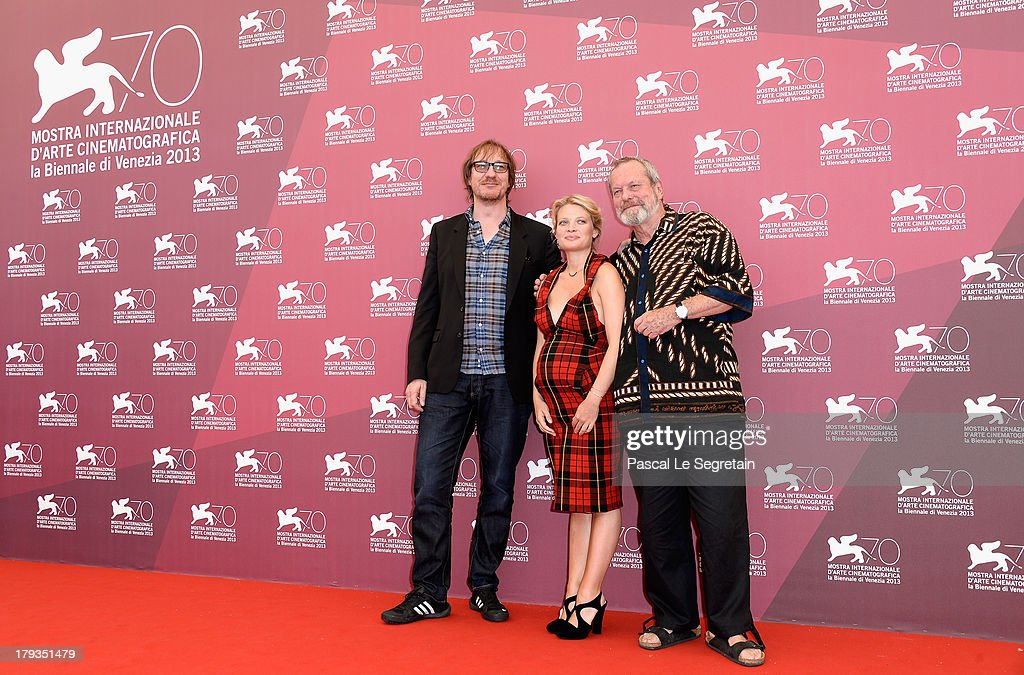 Actors David Thewlis Melanie Thierry and director Terry Gilliam attend 'The Zero Theorem' Photocall during the 70th Venice International Film...