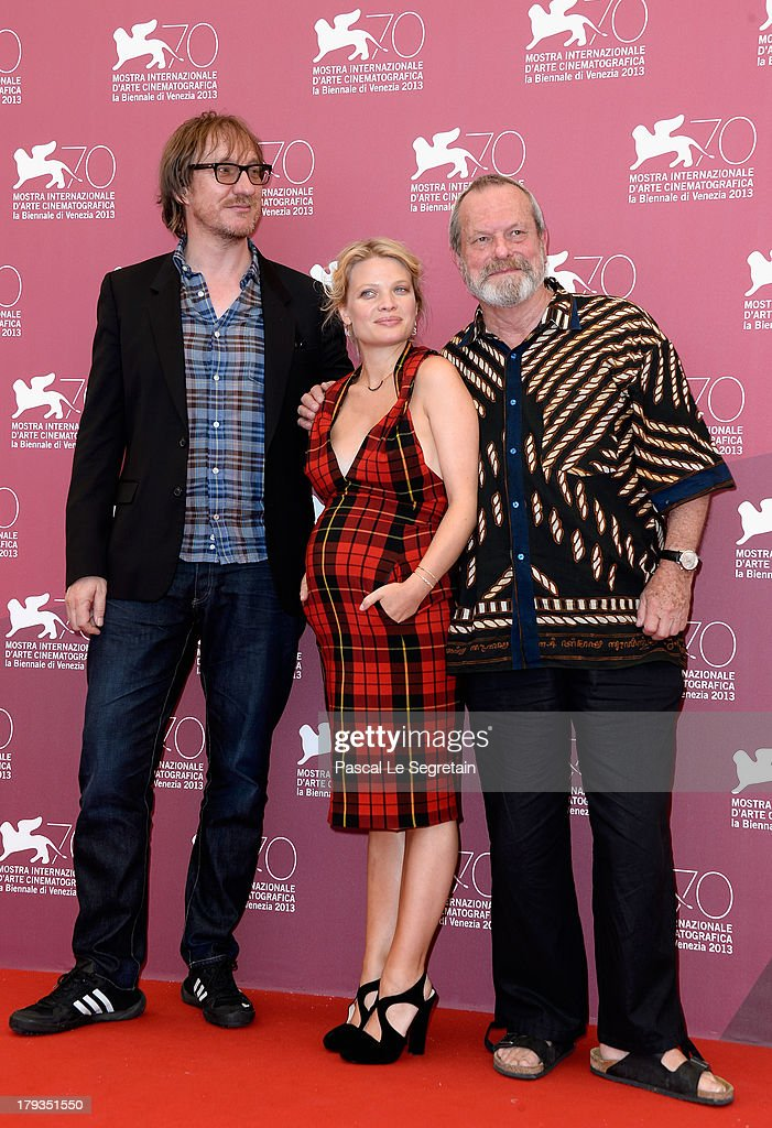Actors <a gi-track='captionPersonalityLinkClicked' href=/galleries/search?phrase=David+Thewlis&family=editorial&specificpeople=213624 ng-click='$event.stopPropagation()'>David Thewlis</a>, Melanie Thierry and director <a gi-track='captionPersonalityLinkClicked' href=/galleries/search?phrase=Terry+Gilliam&family=editorial&specificpeople=221636 ng-click='$event.stopPropagation()'>Terry Gilliam</a> attend 'The Zero Theorem' Photocall during the 70th Venice International Film Festival at the Palazzo del Casino on September 2, 2013 in Venice, Italy.