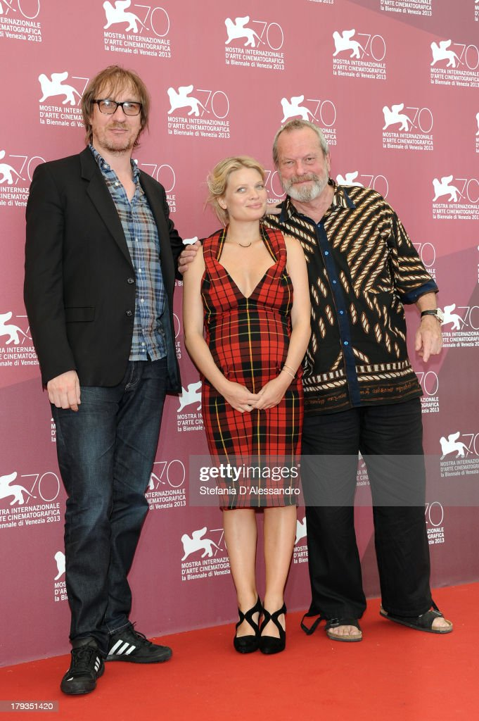 Actors <a gi-track='captionPersonalityLinkClicked' href=/galleries/search?phrase=David+Thewlis&family=editorial&specificpeople=213624 ng-click='$event.stopPropagation()'>David Thewlis</a>, Mélanie Thierry and Director <a gi-track='captionPersonalityLinkClicked' href=/galleries/search?phrase=Terry+Gilliam&family=editorial&specificpeople=221636 ng-click='$event.stopPropagation()'>Terry Gilliam</a> attend 'The Zero Theorem' Photocall during the 70th Venice International Film Festival at Palazzo del Casino on September 2, 2013 in Venice, Italy.