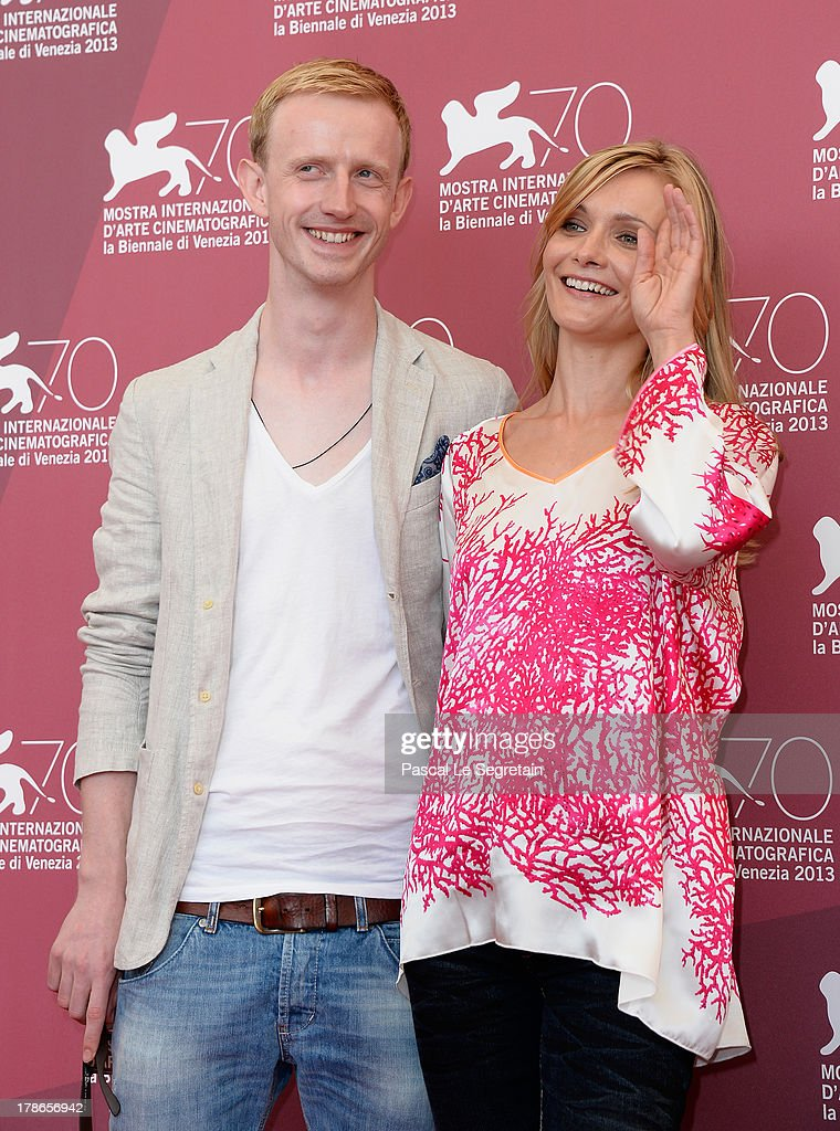 Actors David Zimmerschied and Alexandra Finder attend 'The Police Officer's Wife' Photocall during The 70th Venice International Film Festival at Palazzo Del Casino on August 30, 2013 in Venice, Italy.