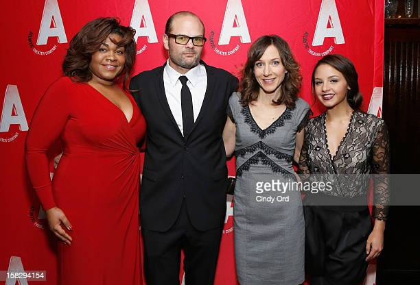 Actors Da'Vine Joy Randolph Chris Bauer Seana Kofoed and Aimee Carrero attend the 'What Rhymes With America' opening night after party at Moran's...