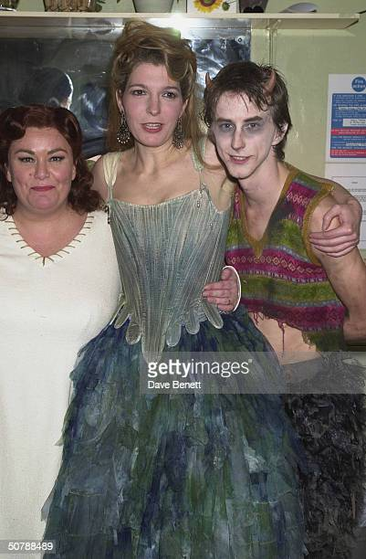 Actors Dawn French with Jemma Redgrave and Lee Ingleby at the 'A Midsummer Night's Dream' opening night party at the Albery Theatre on 3rd March 2001...
