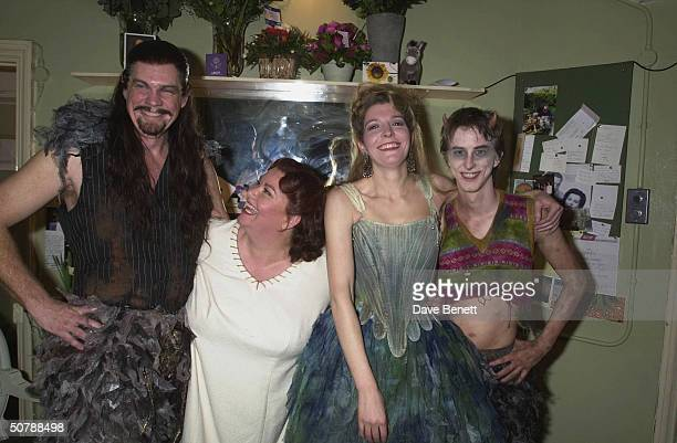 Actors Dawn French with Jemma Redgrave Michael Siberry and Lee Ingleby at the 'A Midsummer Night's Dream' opening night party at the Albery Theatre...