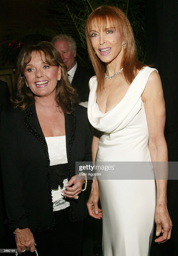 Actors Dawn Wells and Tina Louise attend the cocktail party for the 'CBS at 75' television gala at the Hammerstein Ballroom November 2, 2003 in New York City.