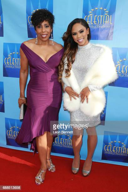 Actors Dawnn Lewis and Shanica Knowles attends the Celestial Awards Of Excellence at Alex Theatre on May 25 2017 in Glendale California