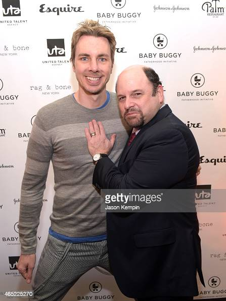 Actors Dax Shepard and Jason Alexander attend the Inaugural Los Angeles Fatherhood Lunch to Benefit Baby Buggy hosted by Jerry Seinfeld at The Palm...