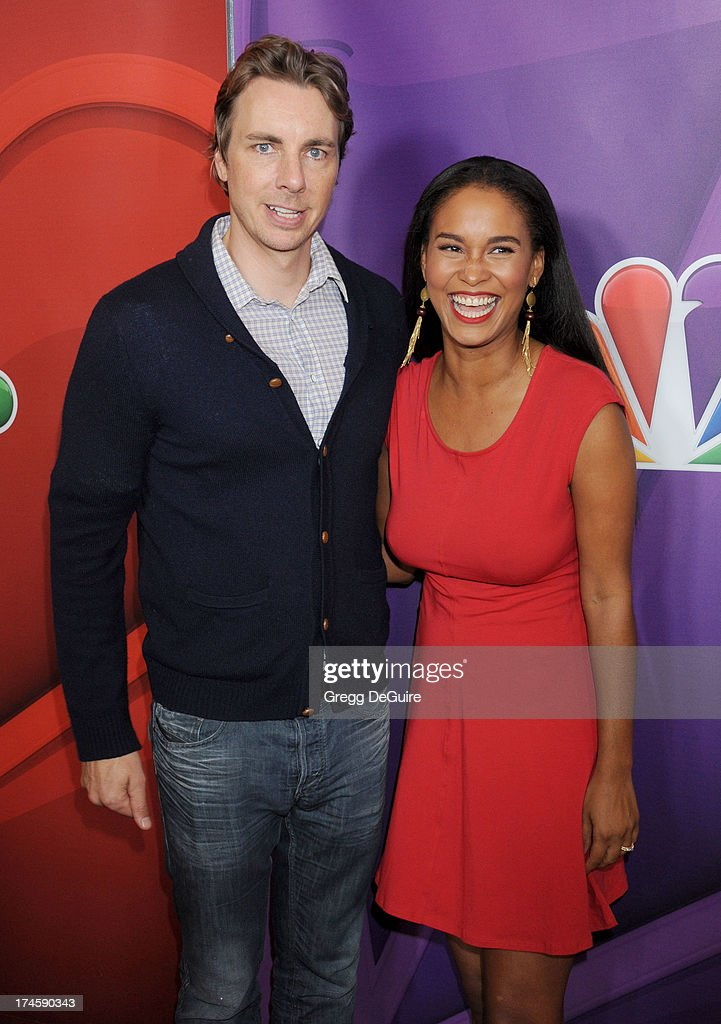 Actors Dax Shepard and Joy Bryant arrive at the 2013 NBC Television Critics Association's Summer Press Tour at The Beverly Hilton Hotel on July 27, 2013 in Beverly Hills, California.