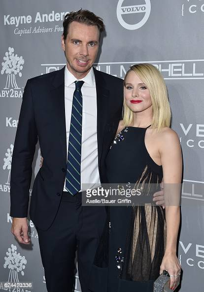 Actors Dax Shepard and Kristen Bell arrive at the 5th Annual Baby2Baby Gala at 3LABS on November 12 2016 in Culver City California
