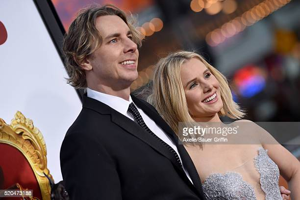 Actors Dax Shepard and Kristen Bell arrive at the premiere of USA Pictures' 'The Boss' at Regency Village Theatre on March 28 2016 in Westwood...