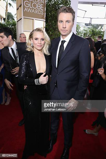 Actors Dax Shepard and Kristen Bell at the 74th annual Golden Globe Awards sponsored by FIJI Water at The Beverly Hilton Hotel on January 8 2017 in...