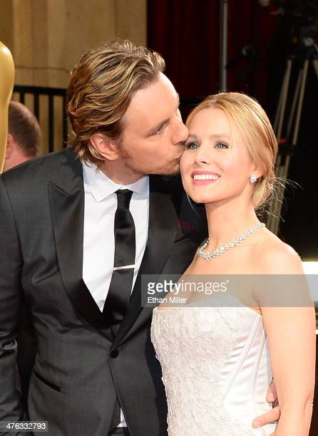 Actors Dax Shepard and Kristen Bell attend the Oscars held at Hollywood Highland Center on March 2 2014 in Hollywood California