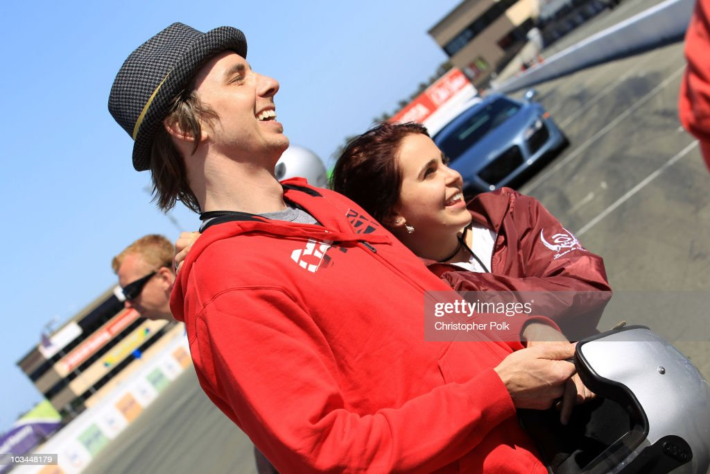 Actors Dax Shepard and Mae Whitman attend 'Learn to Ride' with the Audi Sportscar Experience 2010, presented by Oakley at Infineon Raceway on May 20, 2010 in Sonoma, California.