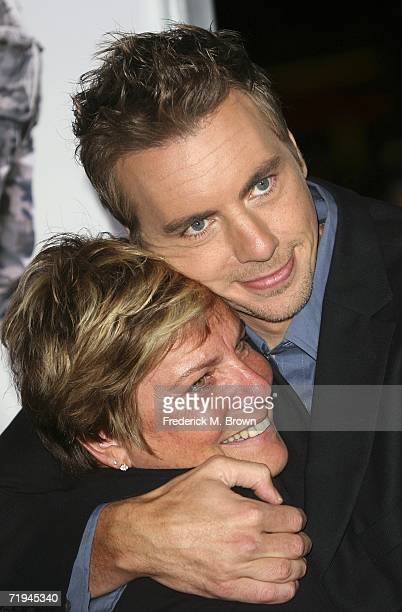 Actors Dax Shepard hugs his mother at the film premiere of 'Employee of the Month' at Graumans Chinese Theatre on September 19 2006 in Hollywood...
