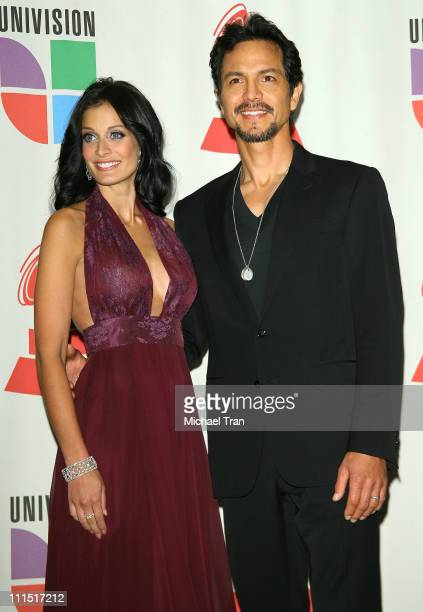 Actors Dayanara Torres and Benjamin Bratt in the 8th Annual Latin GRAMMY Awards press room at Mandalay Bay on November 8 2007 in Las Vegas Nevada