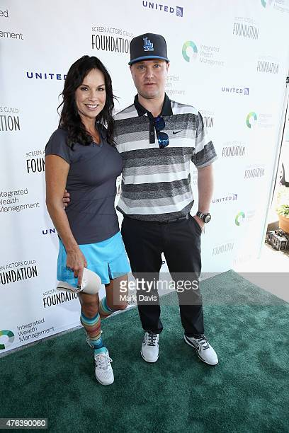Actors Debbe Dunning and Zachary Ty Bryan attend The Screen Actors Guild Foundation's 6th Annual Los Angeles Golf Classic on June 8 2015 in Burbank...