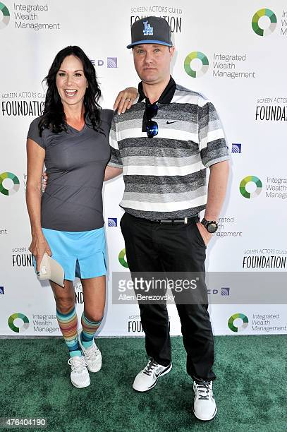 Actors Debbe Dunning and Zachery Ty Bryan arrive at The SAG Foundation's 6th Annual Los Angeles Golf Classic on June 8 2015 in Burbank California