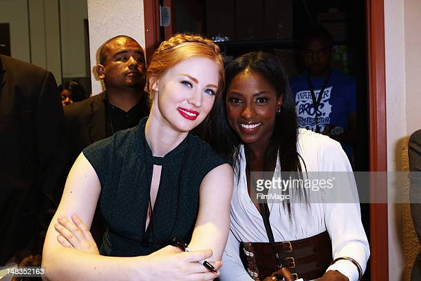 Actors Deborah Ann Woll and Rutina Wesley attend HBO's 'True Blood' during ComicCon International 2012 at San Diego Convention Center on July 14 2012...