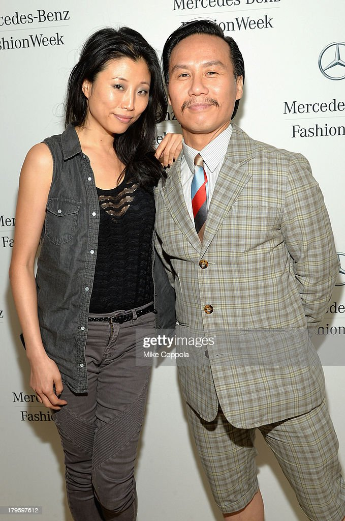 Actors Deborah S. Craig and BD Wong attend the Mercedes-Benz Star Lounge during Mercedes-Benz Fashion Week Spring 2014 at Lincoln Center on September 5, 2013 in New York City.