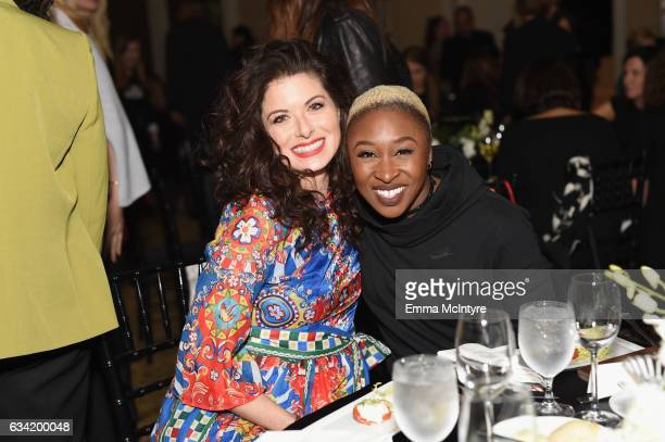 Actors Debra Messing and Cynthia Erivo attend The 2017 MAKERS Conference Day 2 at Terranea Resort on February 7 2017 in Rancho Palos Verdes California